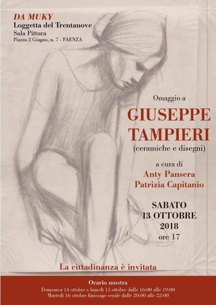 OMAGGIO A GIUSEPPE TAMPIERI (ceramiche e disegni) a cura di Anty Pansera e Patrizia Capitanio.