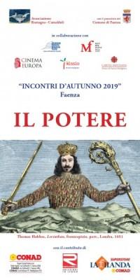 """""""INCONTRI  D'AUTUNNO 2019"""" Faenza"""