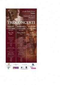 TRE CONCERTI. Evelio Tieles, violino - Giancarlo Peroni, pianoforte