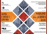 I WEEK END DELLA SCIENZA 2021 a Faenza
